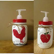 Mason Jar Bathroom Accessories Mason Jar Soap Dispenser Etsy