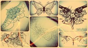 эскизы тату на поясницу лучшие рисунки для нанесения татуировки