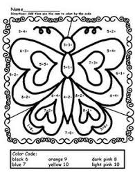 d68123f216da6a9032e77dcde54ae162 addition color by number simple addition addition coloring pages for kindergarten addition coloring on addition math worksheets