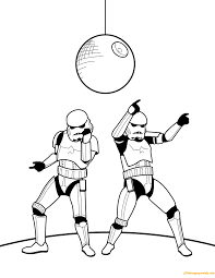 dancing stormtroopers coloring page free pages in stormtrooper