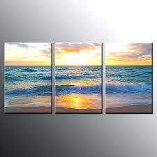 framed beach art years factory whole framed canvas print wall decor beach sunrise wall art canvas