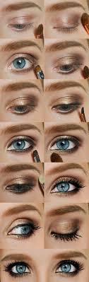 step by easy blue eyes makeup tutorial
