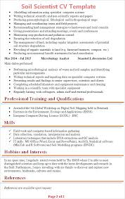 Professional Cv Template Impressive Soil Scientist CV Template Tips And Download CV Plaza
