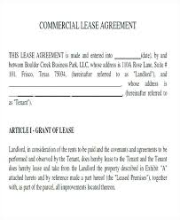 Commercial Lease Agreement Sample Commercial Lease Agreement Luxury ...