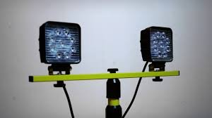 Led Dual Head Work Light With Tripod The Best Led Work Light On The Planet