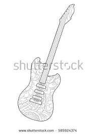 al instrument guitar coloring book for s vector ilration anti stress coloring for