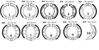 Haldex Brake Shoe Identification Chart 61 Detailed Truck Brake Shoe Chart
