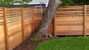 Modern Horizontal Wood Fence Panels Fences Ideas