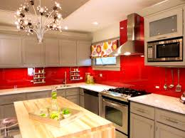 Red Kitchen Decor Pvblikcom Decor Yellow Backsplash