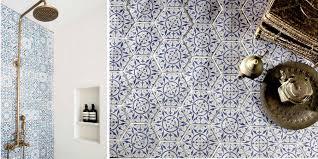 blue patterned tiles