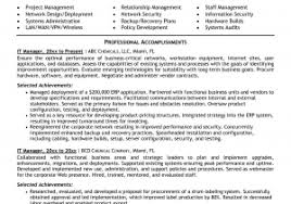 Project Manager Responsibilities Resume Cover Letter For Manager