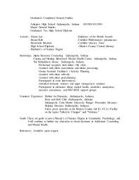 Resume High School Diploma Waiter Resume Examples For Letters Job