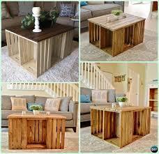 diy wine wood crate coffee table free