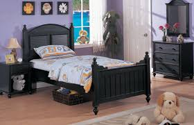 kids black bedroom furniture. Beautiful Kids BlackLouveredWoodTwinBedBlackChildrensBedroom And Kids Black Bedroom Furniture