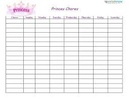 Weekly Chores List Template Free Printable Chore Chart Ideas Elegant Blank Chores List