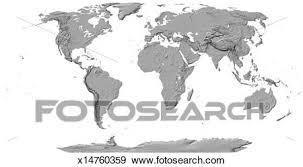 Black And White Map Of Earth Barca Fontanacountryinn Com