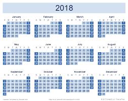 Calnedar 2018 Yearly Calendar Reverse Baseline Training