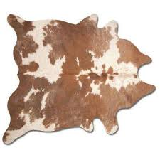 kobe brown and white 6 ft x 7 ft cowhide rug