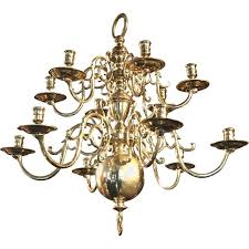 brass chandelier after a 17th century flemish design for