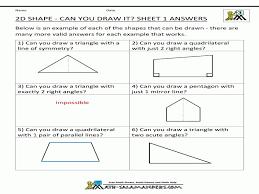 2d Shapes And Symmetry Worksheet 2d Shapes And Symmetry Worksheet ...