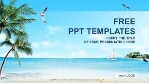 Beach Nature Powerpoint Templates Download Free