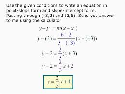 free writing equations in slope intercept form simple
