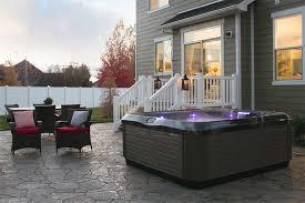 backyard hot tub ideas bullfrog spas