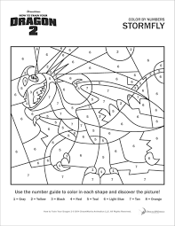 Code for coloring with words: How To Train Your Dragon Stormfly Color By Number Coloring Page Coloringbay