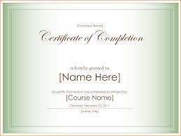doc certificate of completion word template completion doc500353 certificate of completion template word certificate of completion word template