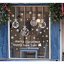 Tenrany Home Schneeflocken Fenster Aufkleber Weihnachten Fensterdeko 190 Stück Abnehmbare Weiße Weihnachten Wandtattoo Fensteraufkleber Wandaufkleber