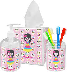 Sugar Skull Bathroom Decor Kids Sugar Skulls Toothbrush Holder Personalized Potty Training