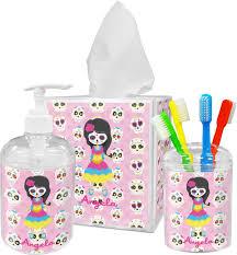 Skull Bathroom Decor Kids Sugar Skulls Toothbrush Holder Personalized Potty Training