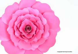Red Paper Flower Penelope Paper Rose Template Diy Paper Rose Patterns