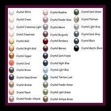 Swarovski Colour Charts Jewels And Bridal