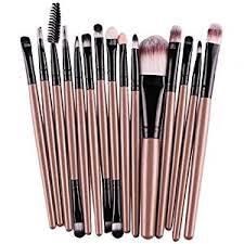 start 15 pcs sets makeup brush set for eye shadow foundation eyebrow lip gold