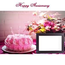 Happy Anniversary Cake With Photo Edit