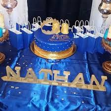 Royal Blue Gold And White Baby Shower Cake Baby Shower Themes