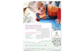 baby pamphlets babysitting daycare flyer template design