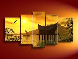 In feng shui, simplicity and minimalism encourage harmony and contentment. Landscape Feng Shui Art Canvas Wall Art Sets