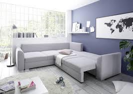 Sofa Eckcouch Couch Schlafsofa Sofa Silber Wohnlandschaft