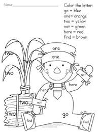 Small Picture Color By Sight Words FREEBIES Great for 1st 2nd Grades A gift
