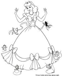 Small Picture Cinderella dress up coloring pages printable for girlsFree