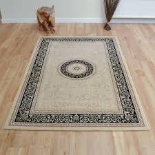 black and cream rug. Noble Art Rugs 6572 192-Cream Black [111414] And Cream Rug