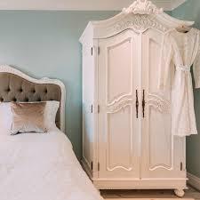 white armoire wardrobe bedroom furniture. French White Hand Carved Double Armoire Wardrobe Furniture - La Maison Chic Luxury Interiors Bedroom D