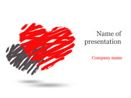 Heart Powerpoint Templates Download Free Two Hearts Powerpoint Template For Presentation