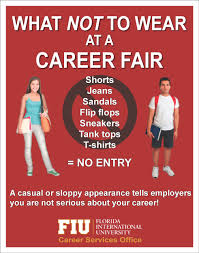 What Not To Wear At A Career Fair Same Goes For Interviews