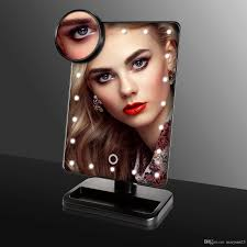 10x fold away lighted travel makeup mirror d111a luxury led makeup mirror led make up mirror stand up for desk with 10x