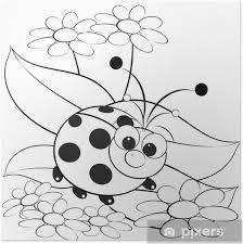 Poster Kleurplaat Lieveheersbeestje En Daisy Pixers We Leven