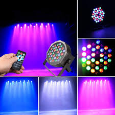 Judyelc Par Lights With Rgbw Celebration Lighting Stage Flashing With 4 Work Models Bright Stage Lamp For Dj Club Dance Parties Bar Karaoke Xmas