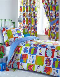 young dinosaur kids reversible duvet cover set or matching curtains boys girls